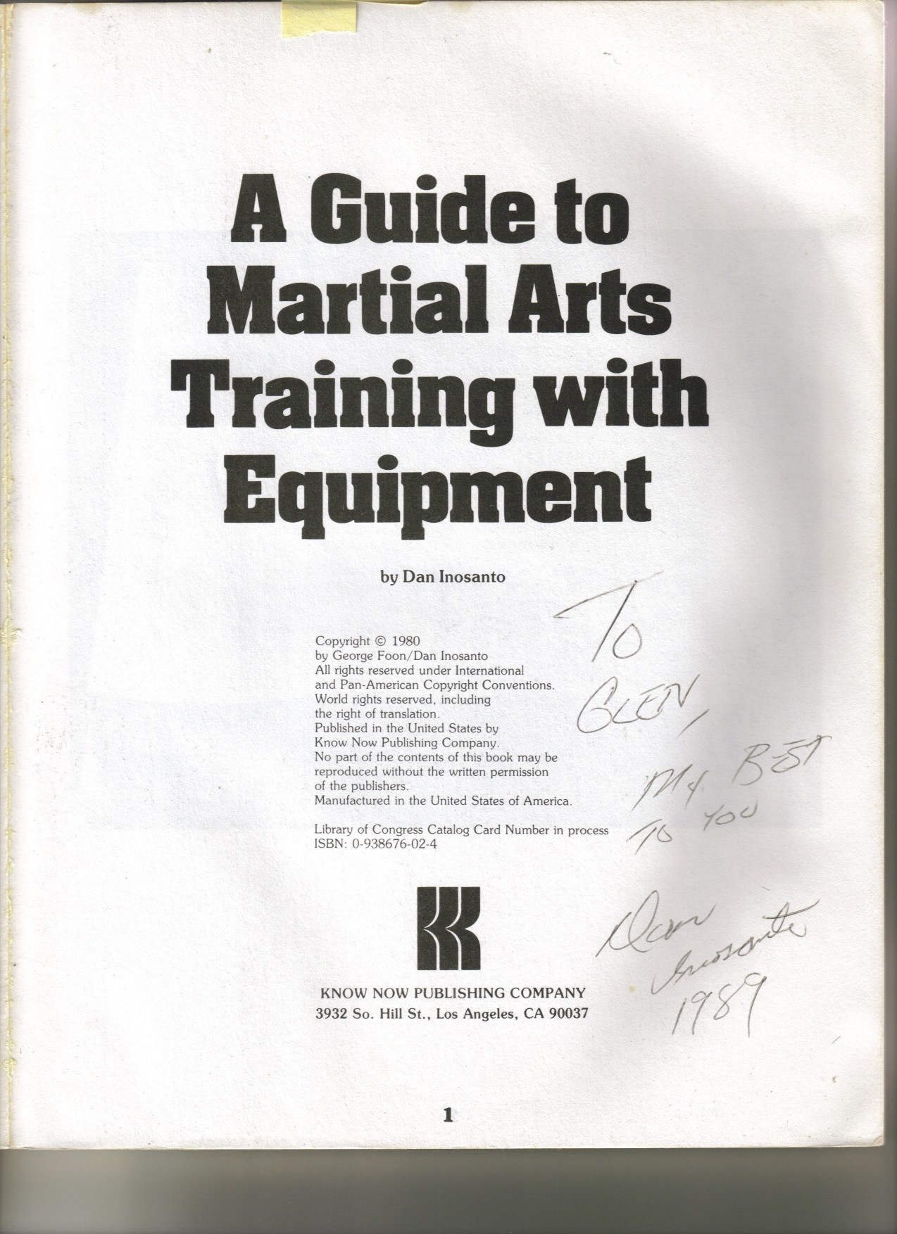 Guide to MA Training Equipment